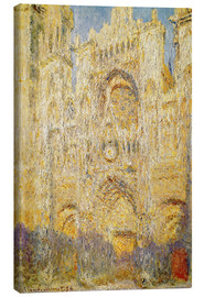 Canvas print  Rouen Cathedral, at noon - Claude Monet