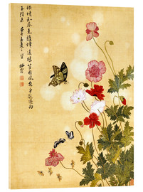 Acrylglas print  Poppies and Butterflies - Ma Yuanyu