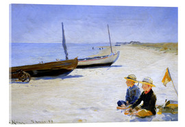 Acrylglas print  Two boys sitting in the sunshine on skagen beach - Peder Severin Krøyer