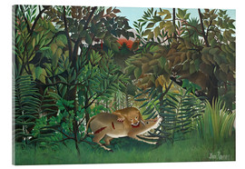 Acrylglas print  The hungry lion - Henri Rousseau