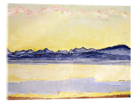 Acrylglas print  Mont Blanc with red clouds - Ferdinand Hodler
