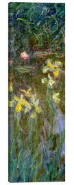 Canvas print  Daffodils in the field - Claude Monet