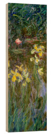 Hout print  Daffodils in the field - Claude Monet