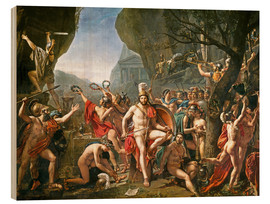 Hout print  Leonidas on the Thermopylae - Jacques-Louis David