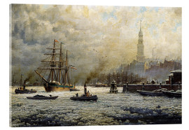 Acrylglas print  The Port of Hamburg, 1893 - Georg Schmitz