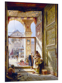 PVC print  The gate of the great Umayyad Mosque in Damascus - Gustave Bauernfeind