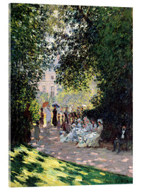 Acrylglas print  In the Park Monceau - Claude Monet