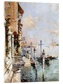 Acrylglas print  The Grand Canal, Venice - Franz Richard Unterberger