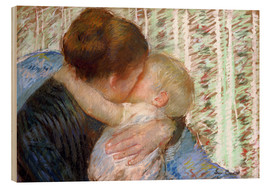 Hout print  The Goodnight Kiss - Mary Stevenson Cassatt