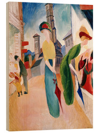 Hout print  In front of hat shop - August Macke