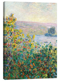 Canvas print  Flower Beds at Vetheuil - Claude Monet