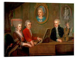 Acrylglas print  The Mozart family making music - Johann Nepomuk della Croce