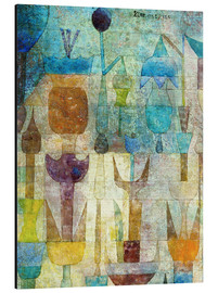 Aluminium print  Plants early in the morning - Paul Klee