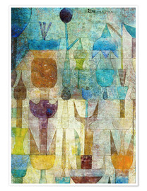 Premium poster  Plants early in the morning - Paul Klee