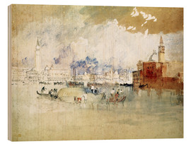 Hout print  Venice, seen from the lagoon - Joseph Mallord William Turner