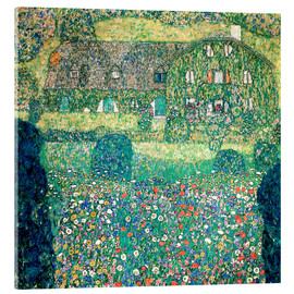 Acrylglas print  Country house on Attersee lake - Gustav Klimt