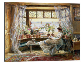 Aluminium print  Reading at the window - Charles James Lewis