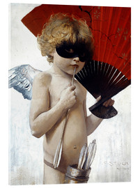 Acrylglas print  Cupid at the masked ball - Franz von Stuck