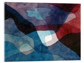 Acrylglas print  Mountain and Air Synthetic - Paul Klee