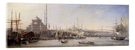 Acrylglas print  The Golden Horn, Suleymaniye Mosque and Fatih Mosque - Antoine Léon Morel-Fatio