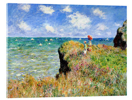 Acrylglas print  The Cliff Walk at Pourville - Claude Monet
