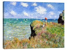 Canvas print  The Cliff Walk at Pourville - Claude Monet