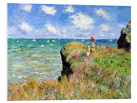 PVC print  The Cliff Walk at Pourville - Claude Monet