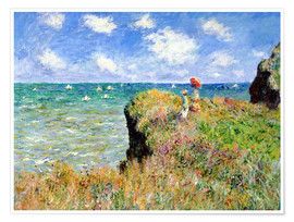 Premium poster  The Cliff Walk at Pourville - Claude Monet
