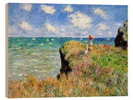 Hout print  The Cliff Walk at Pourville - Claude Monet