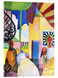 Acrylglas print  In the Bazar - August Macke