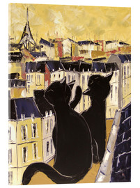 Acrylglas print  Cats on the rooftops of Paris - JIEL