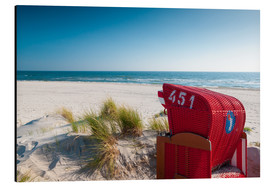 Aluminium print  Red beach chair with a view - Reiner Würz