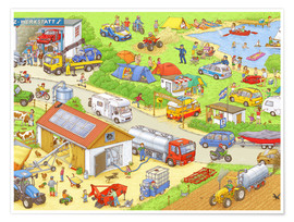 Premium poster Car Hidden Object - In the country