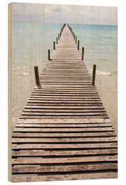 Hout print  Jetty - Walter Quirtmair