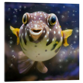 Acrylglas print  fugu the bowlfish - Photoplace Creative