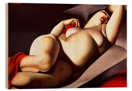 Hout print  The beautiful Rafaela - Tamara de Lempicka