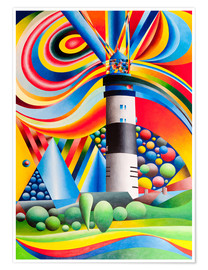 Premium poster Sylt, Lighthouse Kampen