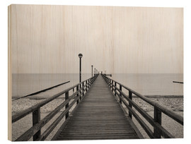 Hout print  Pier Baltic Sea - HADYPHOTO