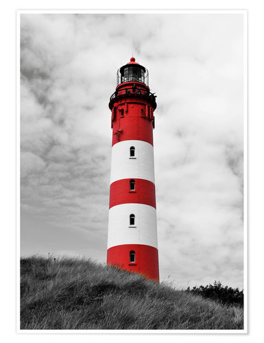 Premium poster Lighthouse in Amrum, Germany