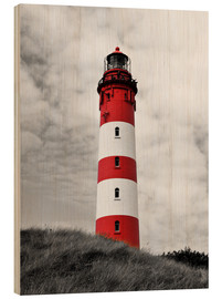 Hout print  Lighthouse in Amrum, Germany - HADYPHOTO