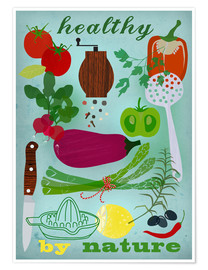 Premium poster Healthy by nature I