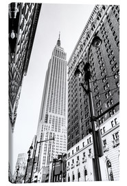 Canvas print  New York City - Empire State Building (monochrome) - Sascha Kilmer