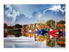 Premium poster Greetsiel port