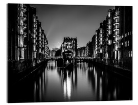 Acrylglas print  Hamburg by night (monochrome) - Sascha Kilmer