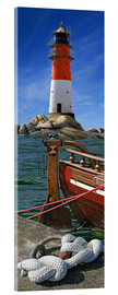 Acrylglas print  The Lighthouse In The Harbor - Monika Jüngling