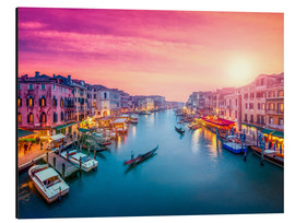 Aluminium print  Venice sunset - Jan Christopher Becke