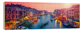 Hout print  Venice panorama at sunset - Jan Christopher Becke
