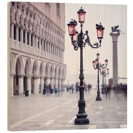 Hout print  St. Mark's Square in Venice in Winter - Jan Christopher Becke
