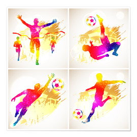 Premium poster Soccer and Winner Silhouette