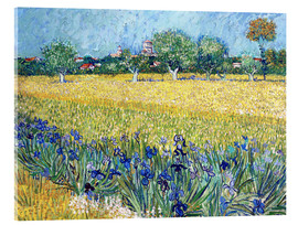 Acrylglas print  View of Arles with Irises in the Foreground - Vincent van Gogh